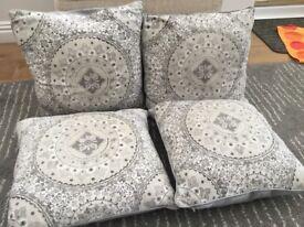 4 Grey Cushions (Inca style pattern)