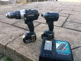 Makita cordless drill set 18v