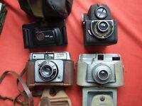 Various vintage cameras job lot