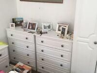 Bedroom furniture great condition in white