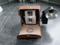 Kodak Starlet Camera, flash and case
