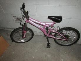 Child's Pink Mountain Bike