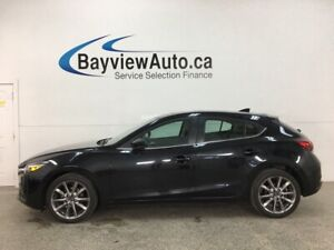 2018 Mazda 3 GT - AUTO! HTD LEATHER! PADDLE SHIFTERS! SUNROOF...
