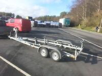 Boat trailer Yacht twin wheel braked trailer Beneteau 22ft 24ft for sale  Maryport, Cumbria