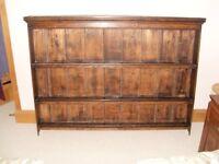 Dark Oak antique shelves 140 cms X 107cms