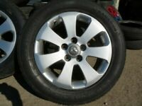 """MINT SET OF VAUXHALL INSIGNIA 17"""" ALLOYS BRAND NEW TYRES ,BALANCE AND FITTING FREE OPEN 7 DAYS"""