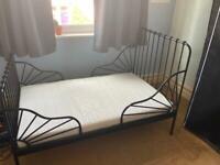 IKEA minnen extendable kids bed with mattress