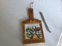Pretty Cheeseboard with Cheese Knife - Only 50p!