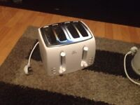 All white toaster kettle microwave all in very good condition and good working order
