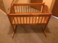 Ikea Pine Crib Cot VGC