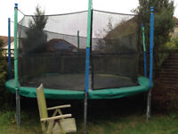 14 foot Jumpking Premium Classic Trampoline with safety net (currently retails at £450 new)