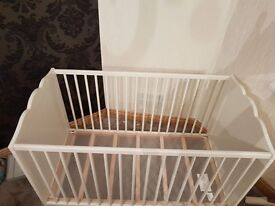 Cream cot and top changer