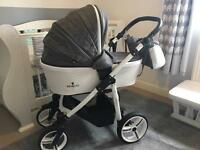 Venicci pure leatherette travel system pushchair pram IMMACULATE