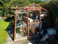Alton amateur cedar greenhouse
