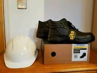 Safety hard hat and site boots (9)