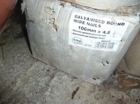 25kg box 4inch galvanised nails