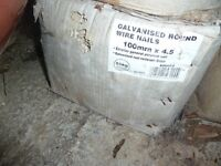 25kg box 4inch galvanised nails