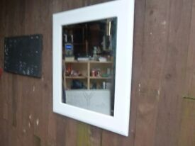 Large White Framed Mirror Delivery Available