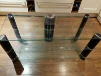 TV STAND TOUGHENED GLASS