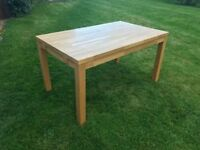 Solid Oak Chunky Dining Table, 6 Chairs & 2 Extension Leaves - Other Matching Items Also Available