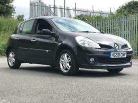 2008 (Sep 58) RENAULT CLIO 1.2 TCE DYNAMIQUE - Hatchback 5 Door - Petrol - Manual - BLACK *MOT/PX WE