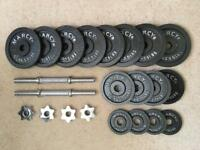 Marcy dumbbell set - 27kg (Cast Iron)