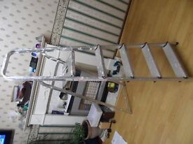 LADDERS FROM ABRU LTD IN GOOD CONDITION 5 FLAT STEPS