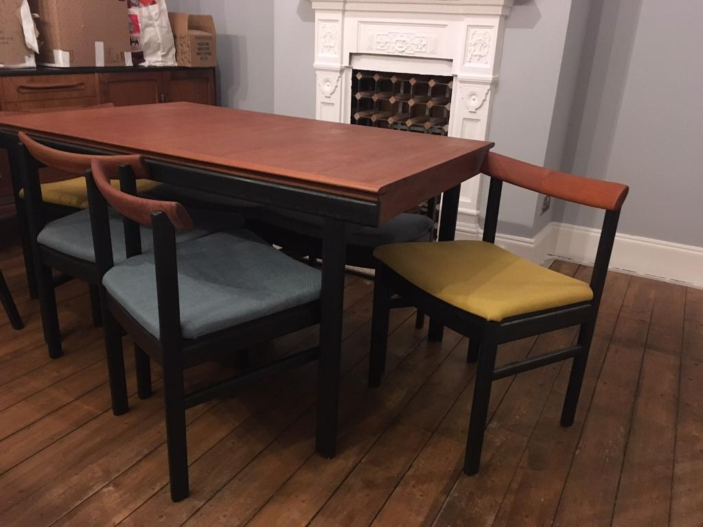 vintage 60s furniture. Vintage 60s White And Newton Ltd Teak Dining Table Chairs Furniture T