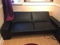 Leather sofa/futon