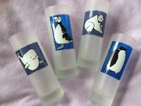 Four 'Winter Animals' glasses