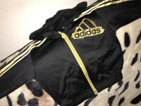 Black & Gold Adidas Jumper 3-6 Months