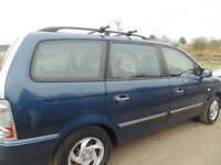 Hyunddai Trajet 2.0 crdi 7 seater metalic blue with silver boot.
