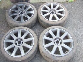 "18"" Genuine Audi A4/A6 Alloy Wheels. Volkswagen Golf MK5, Caddy, Touran, Passat *POSTAGE AVAILABLE*"