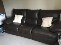 EX DFS Brown Leather Sofas