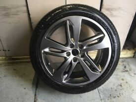 ALLOYS X 4 OF 20 INCH GENUINE RANGEROVER SPORT OR DISCOVERY FULLY POWDERCOATED IN SHADOW/CHROME NICE