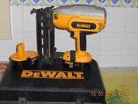 DeWalt finish nail gun .