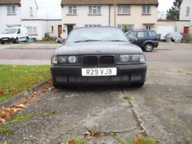1997 BMW E36 323i 2.5L Convertible in Matt Black