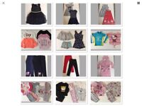 38 item of Girls Clothes Bundle, Size 7-8/8-9, Dresses/leggings/jeans/tops/pjs