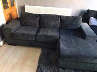 Black Corner Sofa. Excellent Condition. £200