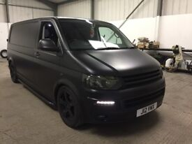 2010 VOLKSWAGEN T5 LWB WRAPPED IN MATTE BLACK