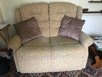2 seater settee sofa vgc
