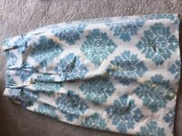 One pair handmade linen lined curtains for sale
