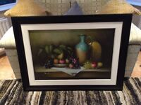 Large framed oil painting for sale