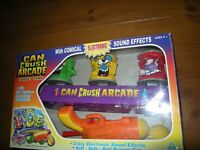 TOY can crush arcade guns target shooting game with sound effects soft balls