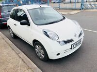 2010 DIESEL NISSAN MICRA 1.5 dCi Visia 3dr PURE DRIVE. LOW INSURANCE & ONLY £30 ROAD TAX PER YEAR.