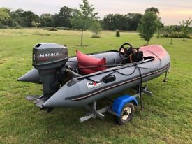 Avon rib with 25hp outboard great boat