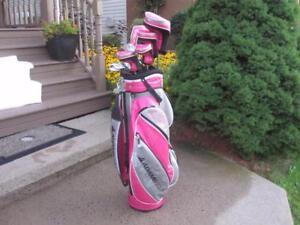 Women's Right Hand 13-pc Golf Clubs Set (Adams Golf Idea a3OS) and Golf Cart Bag