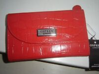 OSPREY RED LEATHER PURSE