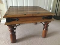 NEXT SOLID WOODEN SIDE/COFFEE TABLE