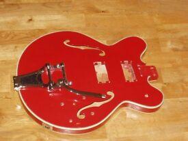 MIJ Semi Acoustic 335-Style Guitar Body.